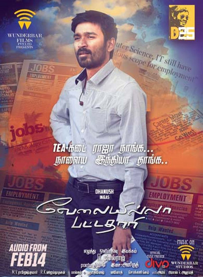 Actor Dhanush in Velai Illa Pattathari Audio Release Posters