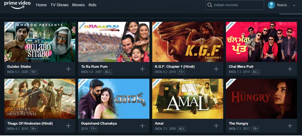 Filmy indyjskie online na Prime Video